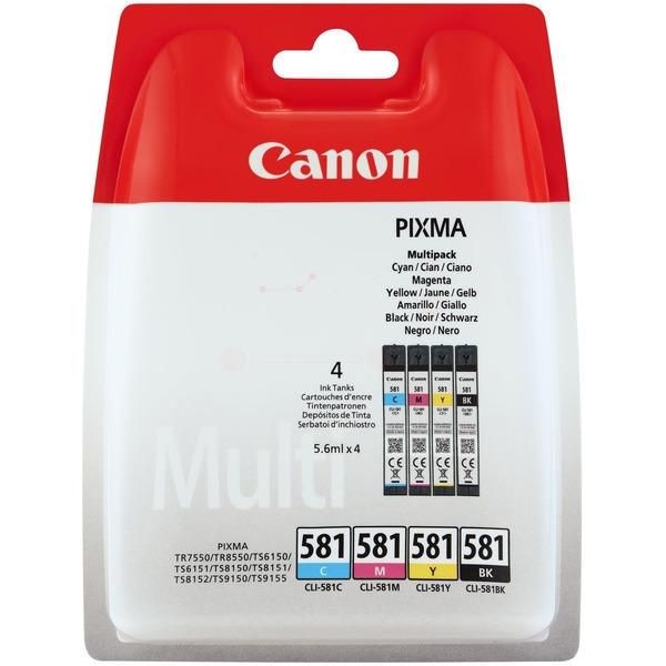 Canon PGI-580BK/CLI-581 BK/C/M/Y Pigment- und Farbstofftinte Multipack